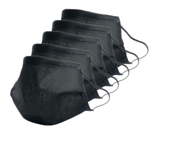 Black Medical Face Mask (Pkt of 5)