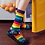 Thumbnail: Pride Cotton Socks - Purple