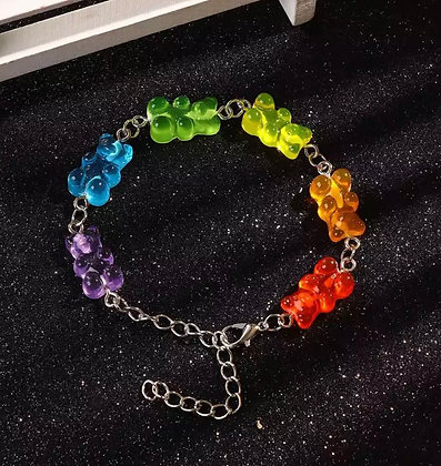 Rainbow Pride Gummy Bear Bracelet