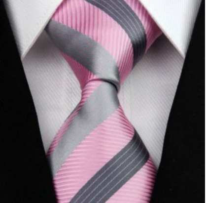 Tie - Silk Collection - Pink Stripe