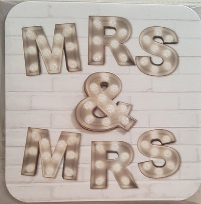 Card - Mrs & Mrs Wedding