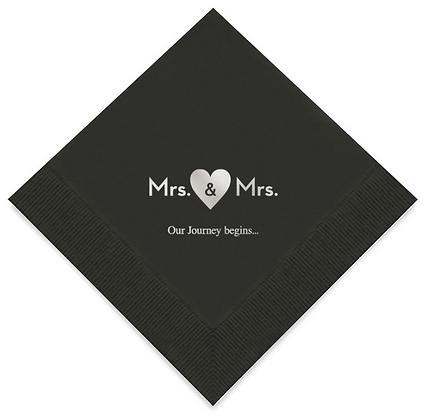 Mrs & Mrs Wedding Napkins