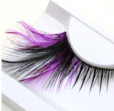 Feather False Eyelashes (Purple)
