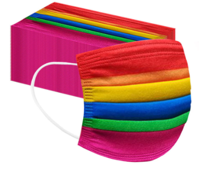Rainbow 3-ply Face Mask (Pkt of 5)