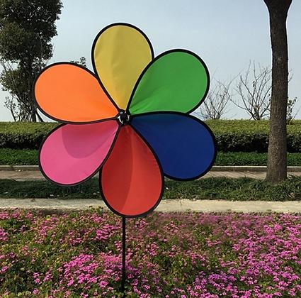 Rainbow Outdoor Daisy Windmill
