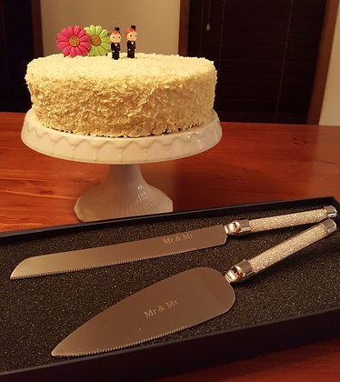 Luxury - Mr & Mr Cake Slice and Knife Set