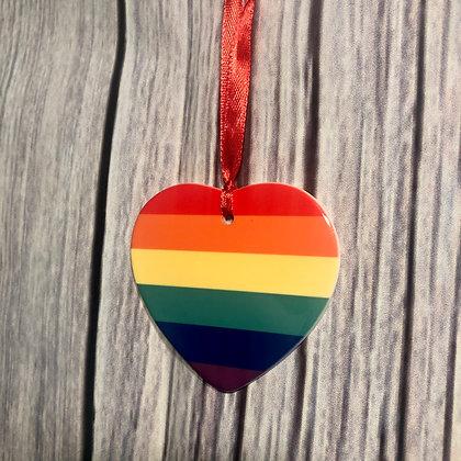 Ceramic Pride Christmas Heart