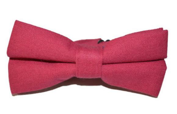 Bowtie - Linen Red