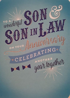 Card - Son & Son-in-law - Anniversary