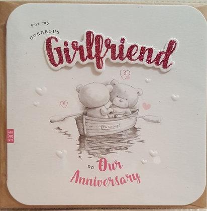 Card - Happy Anniversary - Girlfriend