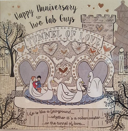 Card - Happy Anniversary - 2 Fab Guys