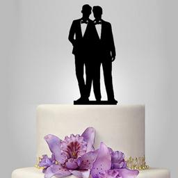 Gay Cake Topper -Wedding Day (Bowtie)