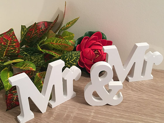 Wooden Letters - Mr & Mr