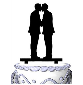 Gay Cake Topper - The Kiss