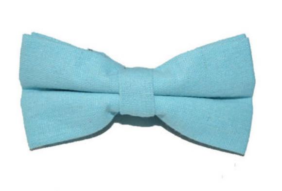 Bowtie - Linen Baby Blue