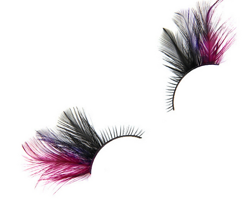 Feather False Eyelashes (Burgendy)