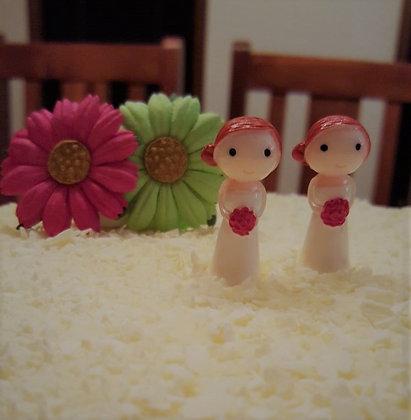 Mrs & Mrs Cake Topper - Little Ladies