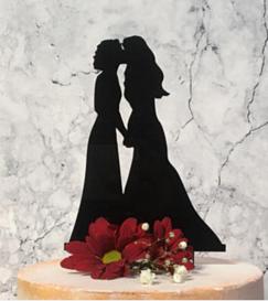 Lesbian Cake Topper -The Kiss