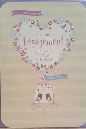 Card - Engagement - 2 Love Birds