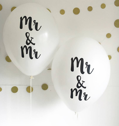 Mr & Mr Party Balloons