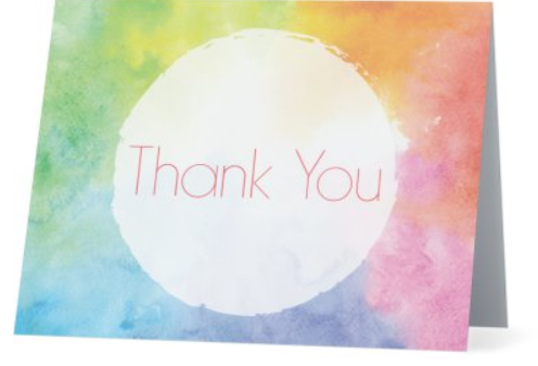 Card - Thank You - Colours - Pack of 5