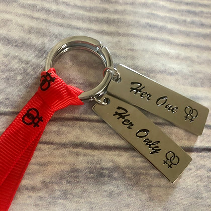 Couple Key Chains - Her One, Her Only