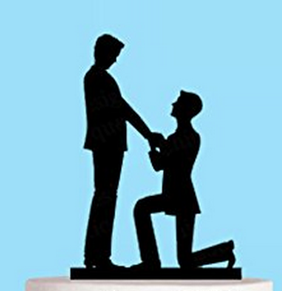 Gay Cake Topper - The Proposal