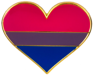 Bisexual Badge (Heart)
