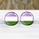Thumbnail: Pride Genderqueer Earrings