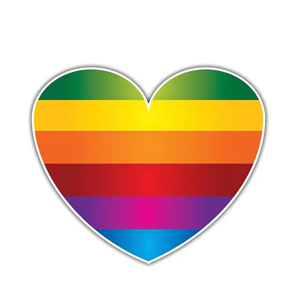 Pride HEART Decal