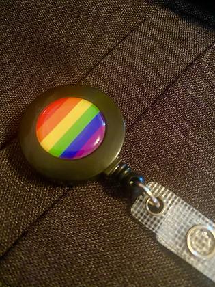 Rainbow Retractable ID Lanyard