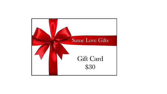 Gift Card - Value $30
