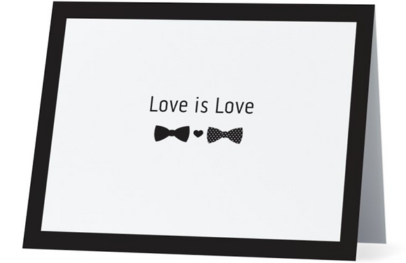 Card - Love is Love - Bowties