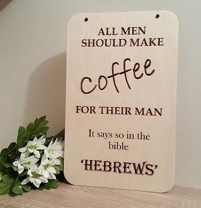 Sign - Hebrews Coffee
