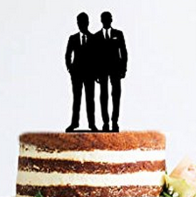 Gay Cake Topper -Wedding Day (Ties)