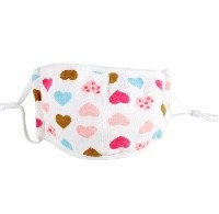 Cotton Childs Heart Face Mask