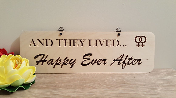 Sign - Lesbian - Happily Ever After