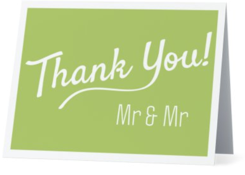 Card - Thank You - Mr & Mr - Pack of 5