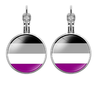 Asexual Glass Drop Earrings