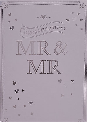 Card - Mr & Mr Congratulations - Silver