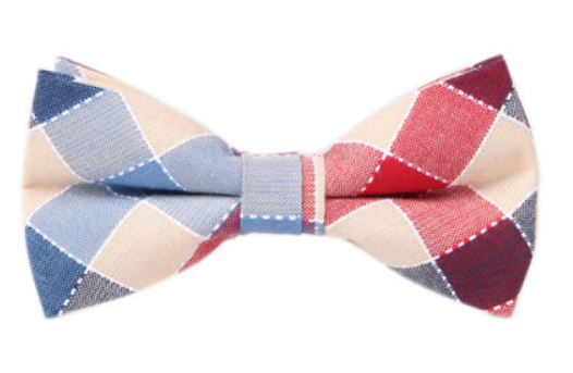 Bowtie - Blue/Red Checkers