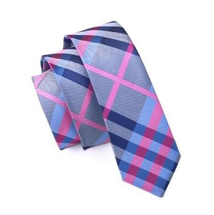 Tie - Silk Collection - Tartan Pink