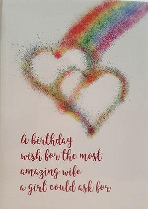 Card - Lesbian - Birthday Wish for my Wife