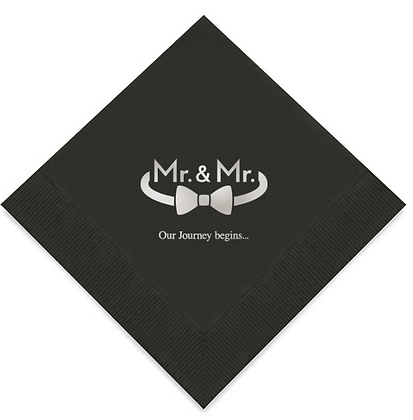 Mr & Mr Wedding Napkins