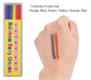 Rainbow Body Art Crayon