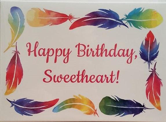 Card - Happy Birthday Sweetheart