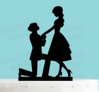 Lesbian Cake Topper - The Proposal