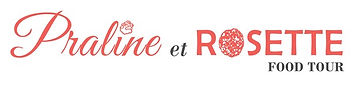 Praline et Rosette, Lyon food tour, logo ligne