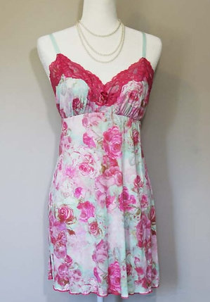 Pink Roses Slip dress