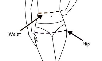 Waist and hip measurement